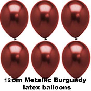 12cm metallic burgundy