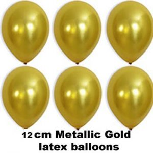12cm metallic gold balloons