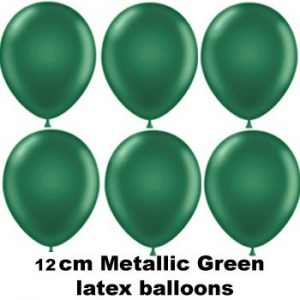 12cm metallic green balloons