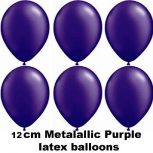 12cm metallic purple balloons