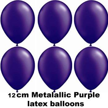 12cm metallic purple balloons