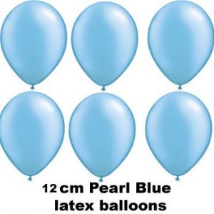 12cm pearl blue balloons