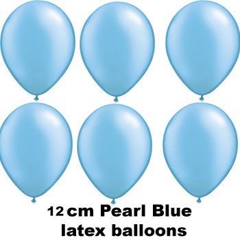 12cm pearl blue balloons