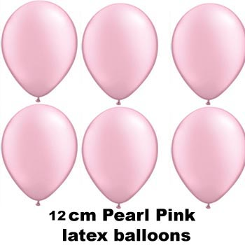 12cm pearl pink balloons