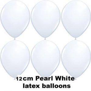 12cm pearl white balloons