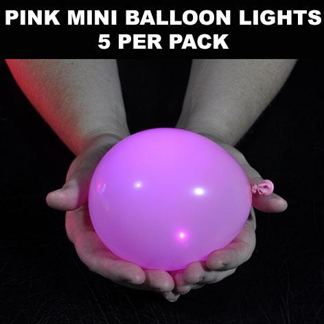 Pink Mini Balloon lights 5 pack