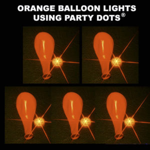 Orange Balloon lights 5 pack