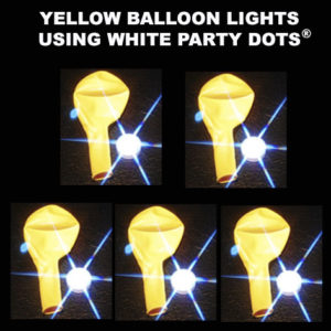 Yellow Balloon lights 5 pack