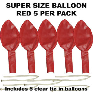 Red Super Size 90cm balloons 5 pack