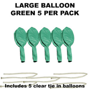 Green Large balloons 5 pack