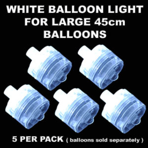 5 White Large Balloon Lights