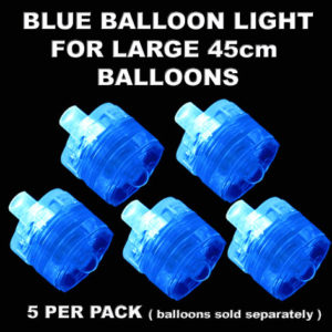 5 Blue Large Balloon Lights 5 pack