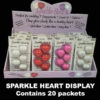 Sparkle Hearts Retail Display Box 100 pack