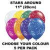 Stars Around 28cm balloons 5 pack