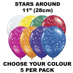 Stars Around 28cm balloons 5 pack