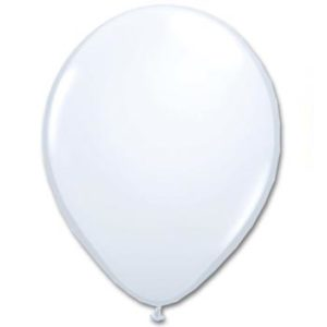 White 28cm Latex Balloons 20 BAG
