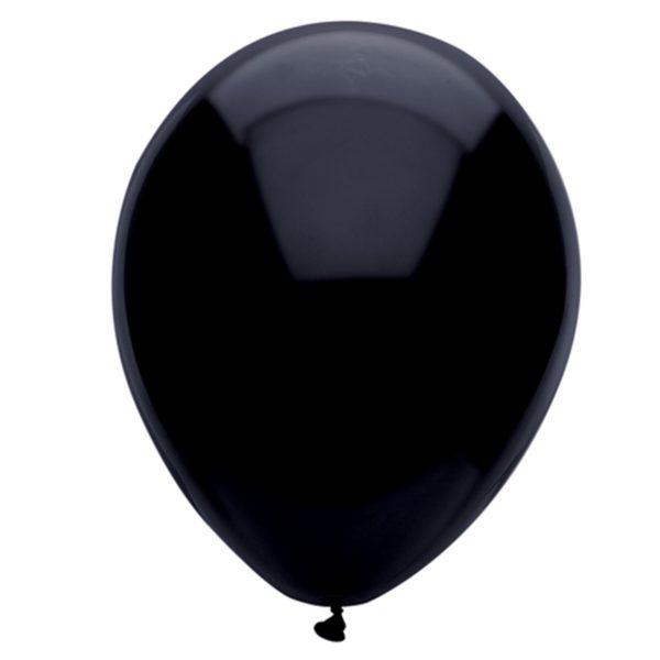 Black 28cm Latex Balloons 100 BAG