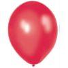 Metallic Red 28cm Latex Balloons 100 BAG
