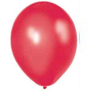 Metallic Red 28cm Latex Balloons 100 BAG