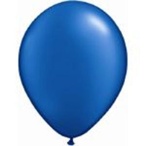 Metallic Blue 28cm Latex Balloons 100 BAG