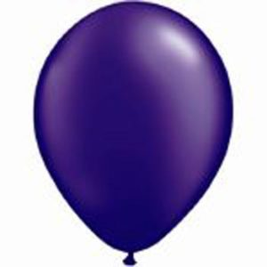 Metallic Purple 28cm Latex Balloons 20 BAG