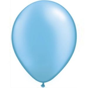 Pearl Blue 28cm Latex Balloons 100 BAG