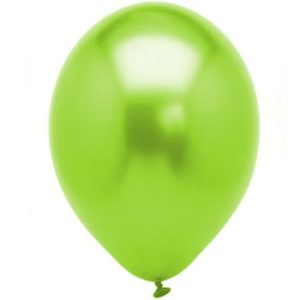 Metallic Lime 28cm Latex Balloons 100 BAG