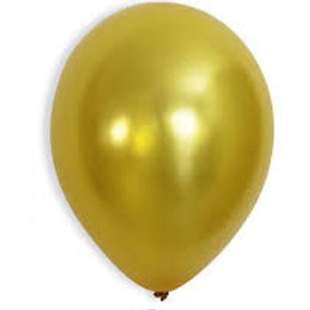 Metallic Gold 28cm Latex Balloons 100 BAG