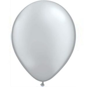 Metallic Silver 28cm Latex Balloons 100 BAG