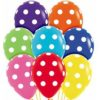 Polka Dots Around 28cm Printed Balloons 100 BAG