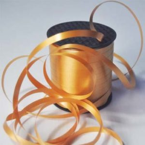 Gold 8mm Wide Curling Ribbon