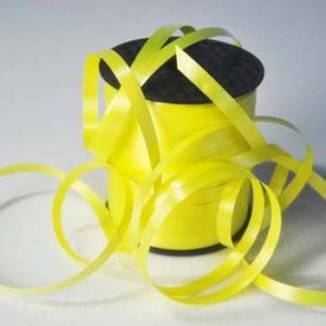 Yellow 8mm Wide Curling Ribbon
