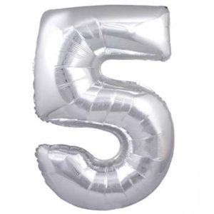 NUMBER 5 SILVER FOIL 1 METRE