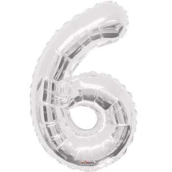 NUMBER 6 SILVER FOIL 1 METRE