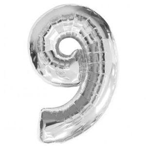 NUMBER 9 SILVER FOIL 1 METRE
