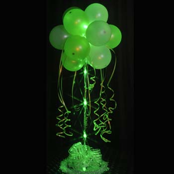 1 Lime Green Sparkle Balloon Topiary D.I.Y