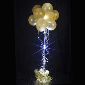 1 Gold Sparkle Balloon Topiary D.I.Y