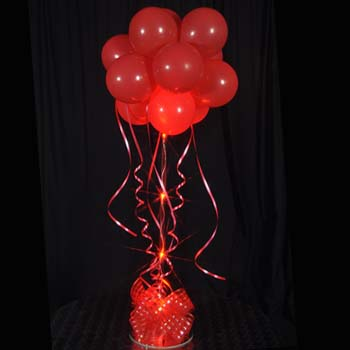 1 Red Sparkle Balloon Topiary D.I.Y