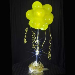 1 Yellow Sparkle Balloon Topiary D.I.Y