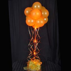1 Orange Sparkle Balloon Topiary D.I.Y