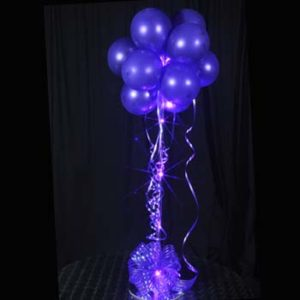 1 Purple Sparkle Balloon Topiary D.I.Y