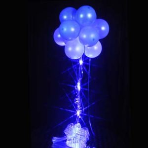 1 Lt Blue Sparkle Balloon Topiary D.I.Y