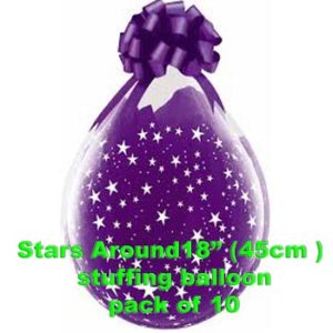 Stars Around Stuffing Balloon 10 pk