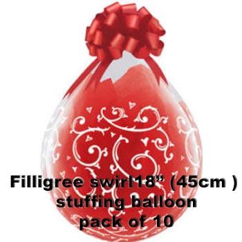 Filigree Swirls Stuffing Balloon 10 pk