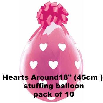 Hearts around Stuffing Balloon 10 pk