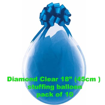 Diamond Clear Stuffing Balloon 10 pk
