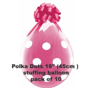 Polka Dots Stuffing Balloon 10 pk