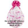 Its a Girl Stuffing Balloon 10 pk