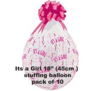 Its a Girl Stuffing Balloon 10 pk
