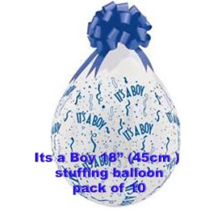 Its a Boy Stuffing Balloon 10 pk